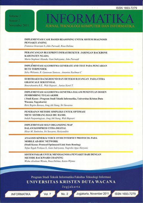 Jurnal Informatika Volume 7 No 2, 2011
