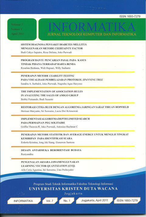 Jurnal Informatika Volume 7 No 1, 2011